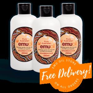 Emu Oil 3 Bottles Free Delivery